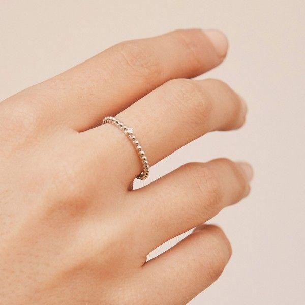 Rebel silver ring hand