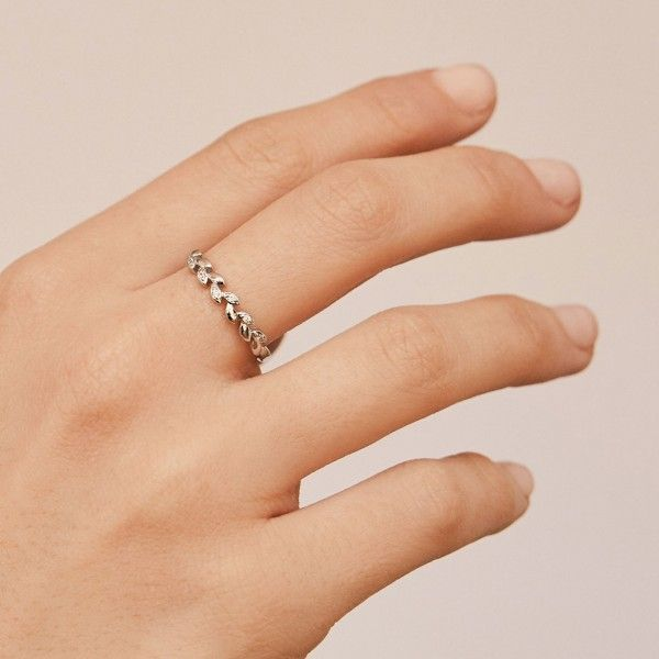 Laurea silver ring hand