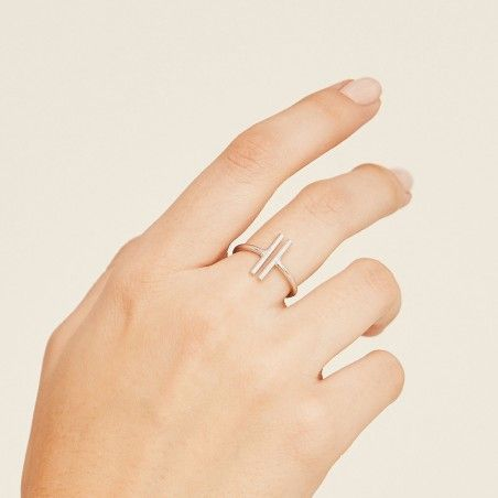 Duo silver ring hand