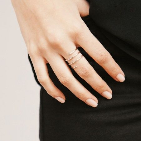 Whirl silver ring hand
