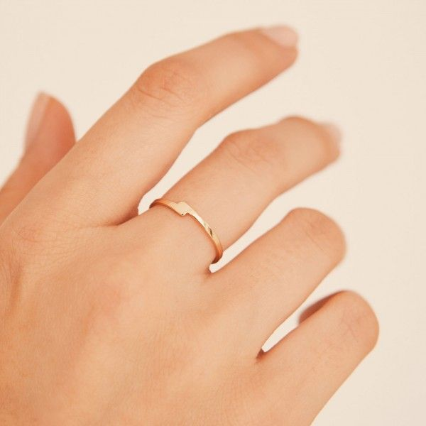 Unity gold ring hand