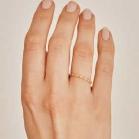 Dotty gold ring hand