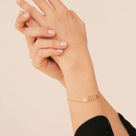 Follie gold bracelet detail
