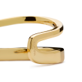 Curve gold bangle detail 2