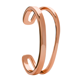 Curve rose gold bangle