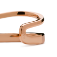 Curve rose gold bangle detail 2