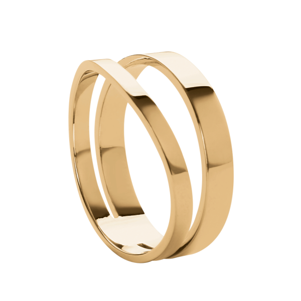 Wave gold ring 2