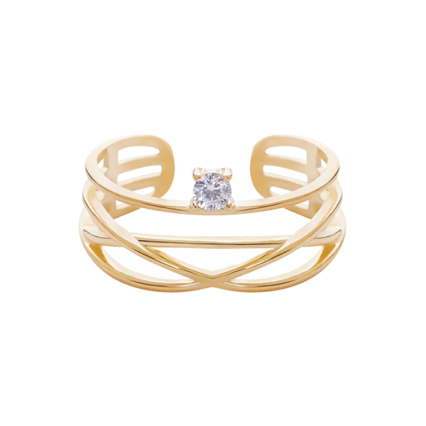 Starlight gold ring 2