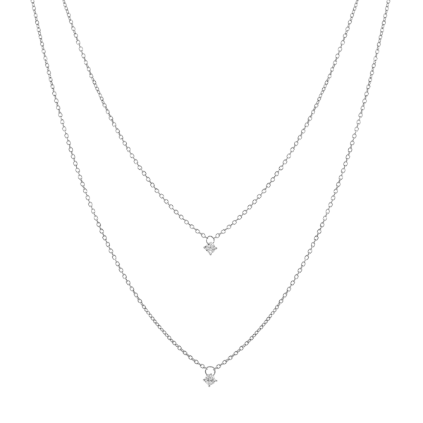 Satellite silver necklace