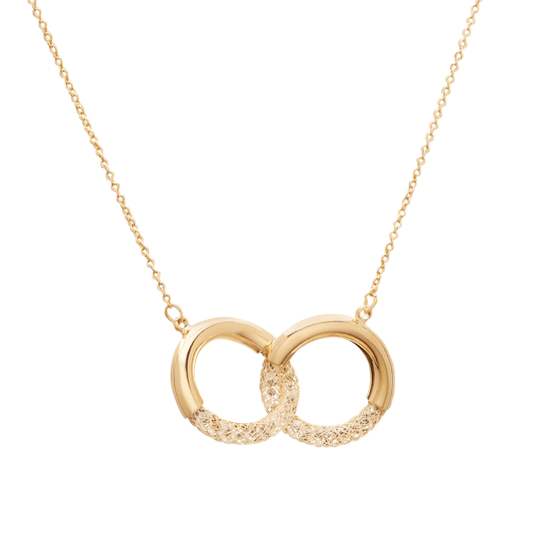 Eternity gold necklace