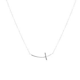 Crux silver necklace