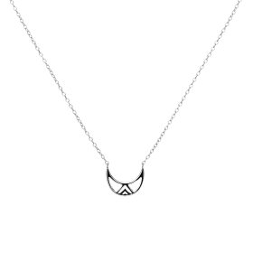 Gobba moon silver necklace