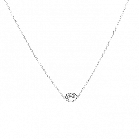 Twirl silver necklace