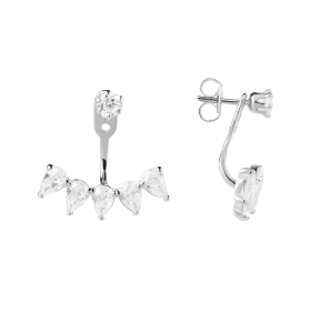 Celestial silver earrings