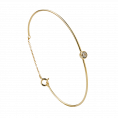 Doria gold bangle