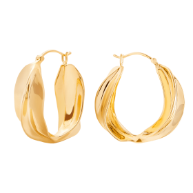 Savage gold hoops