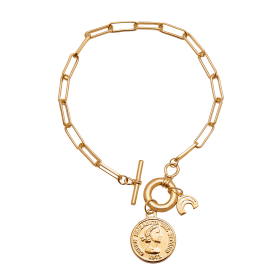 Free gold links bracelet