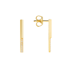 Drip gold earrings
