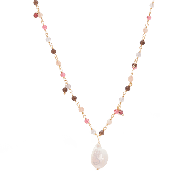 Pink Pearl Gold necklace