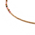 Pink Amazona Gold necklace detail