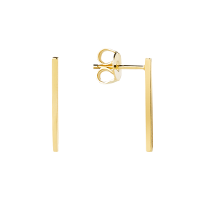 Line gold earrings