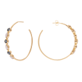 Blue Bibba Gold hoop earrings