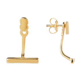 Twin gold earrings