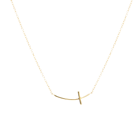 Crux gold necklace
