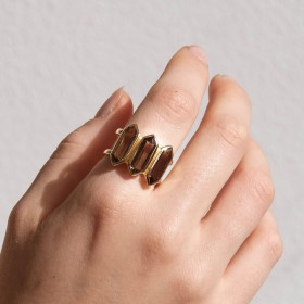 Smoky Talisman Gold ring model