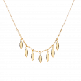Drizzle gold necklace