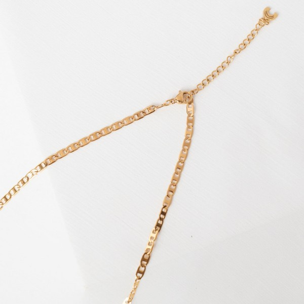 Thin gold chain necklace detail 4