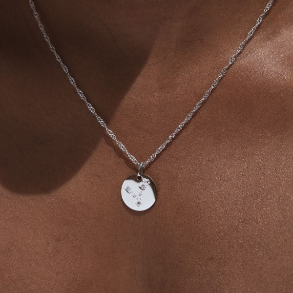 pisces silver horoscope necklace