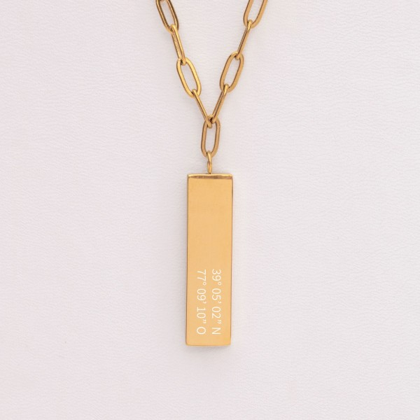 engraved necklace example