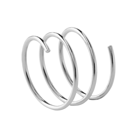 Whirl silver ring