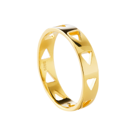 Follow gold ring