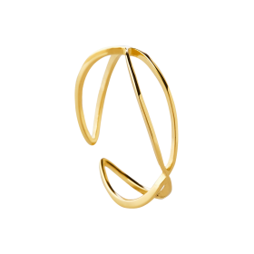 Hopper gold ring