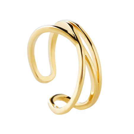 Tangled gold ring
