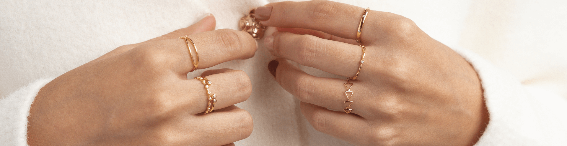 Gold, Rose Gold and Sterling Silver Rings